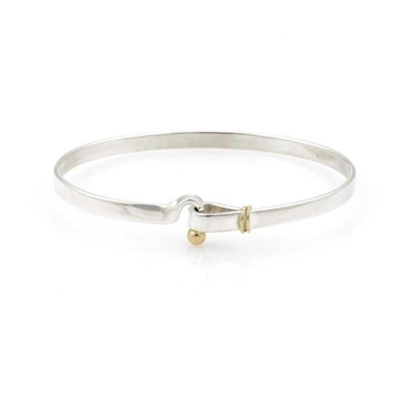de52c3d16 Tiffany & Co. Jewelry | Tiffany Co 18k Gold Silver Hookeye Bracelet ...